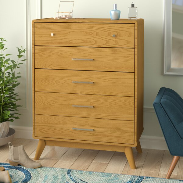 Aspen 5 Drawer Chest by Modern Rustic Interiors
