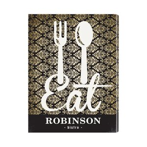 Personalized Gift Bistro Sign Textual Art on Canvas by JDS Personalized Gifts