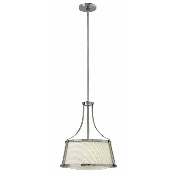Chipley 3 - Light Shaded Geometric Chandelier By Breakwater Bay