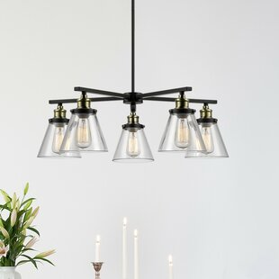 Shae 5 Light Shaded Chandelier By Globe Electric Company