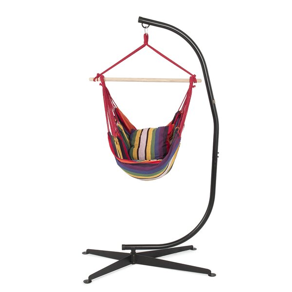Cotton Chair Hammock with Stand by Belleze
