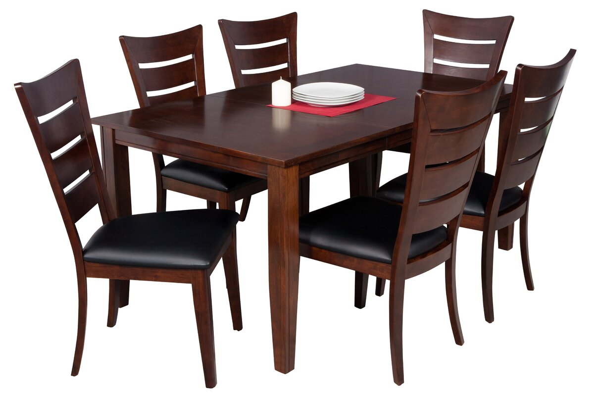 Exceptional Haan 7 Piece Solid Wood Dining Set