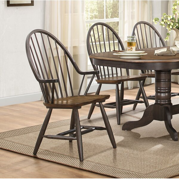 Estefania Dining Chair with Arms (Set of 2) by Gracie Oaks