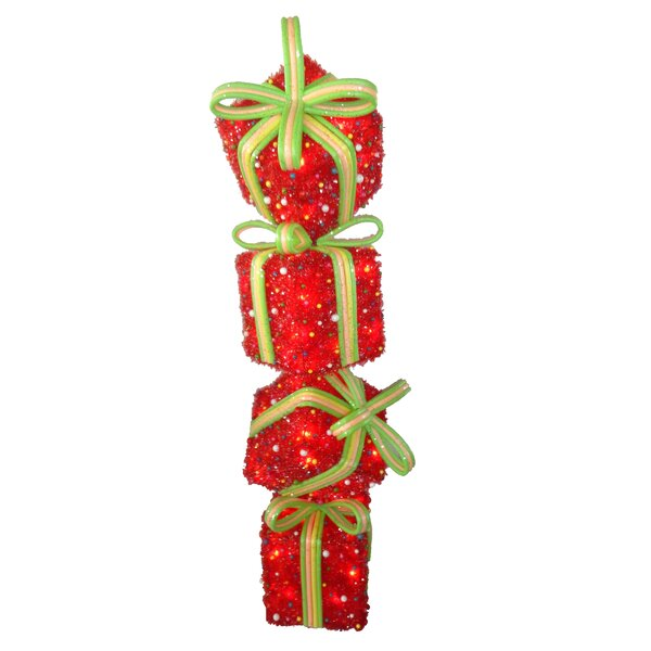 Gift Stack Christmas Decoration by Three Posts