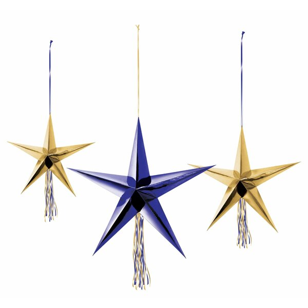 Midnight New Year's Eve 3D Star Decoration (Set of 2) by Amscan