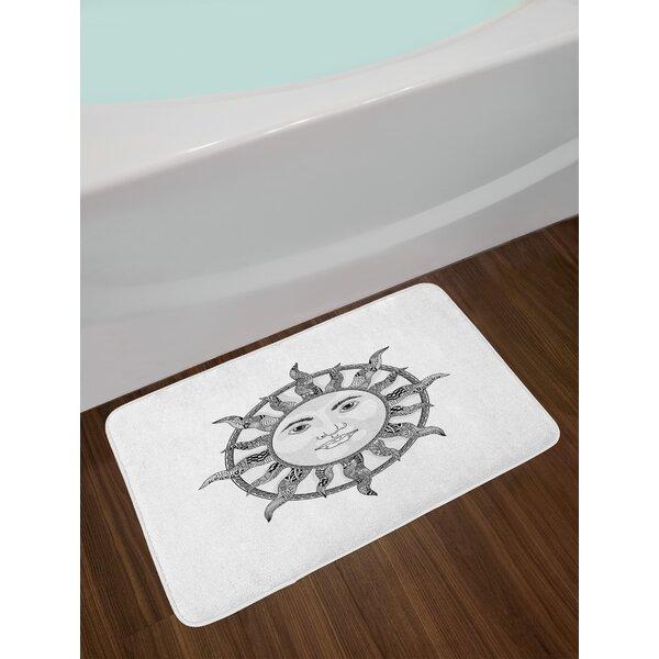 Monochrome Ornamental Sun Bath Rug by East Urban Home