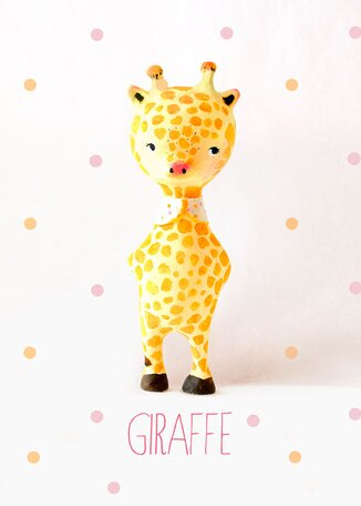 Paper Mache Giraffe by Paola Zakimi Canvas Art by Oopsy Daisy