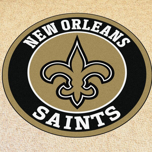 NFL New Orleans Saints Roundel Mat by FANMATS