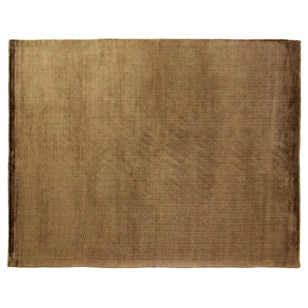 Dove Embossed Hand-Woven Chocolate Area Rug by Exquisite Rugs