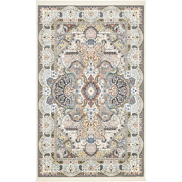 Quince Ivory/Tan Area Rug by Astoria Grand