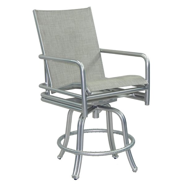 Helios Sling Swivel Patio Bar Stool by Leona