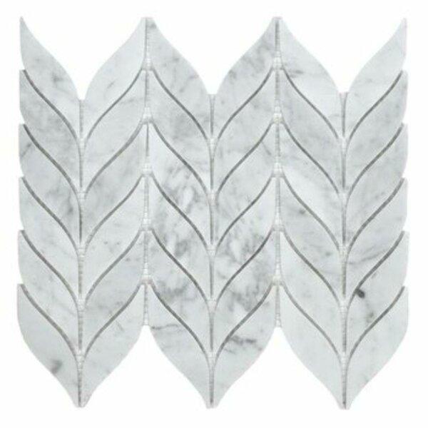Leaf Calacatta 12 x 10 Marble Mosaic Tile