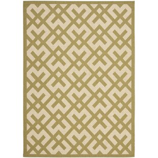 Jefferson Place Beige/Green Outdoor Rug By Wrought Studio