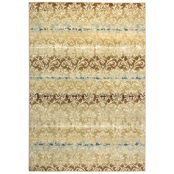 Greenside Khaki Area Rug by Alcott Hill