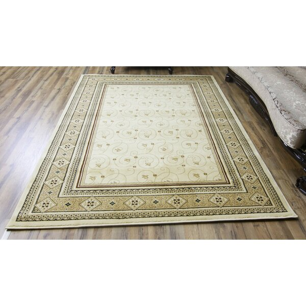 Super Belkis Ivory/Beige Area Rug by Beyan Signature