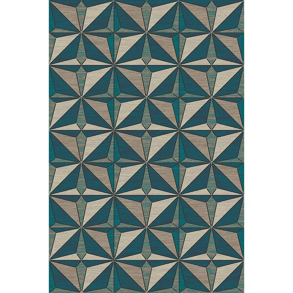 Cosper Beige/Gray Area Rug by Ebern Designs