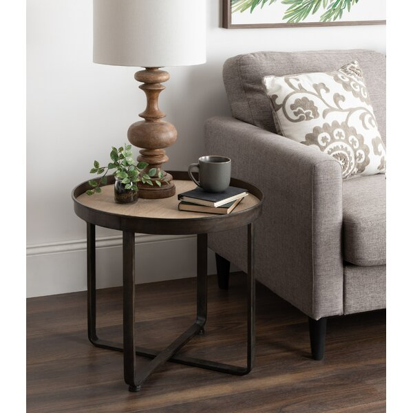Wrenn Round Metal End Table KTEL1411