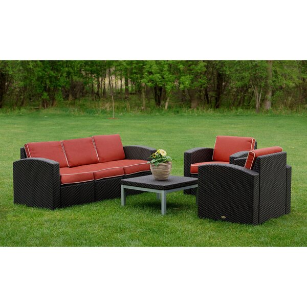 Loggins 4 Piece Sofa Seating Group with Cushions by Brayden Studio
