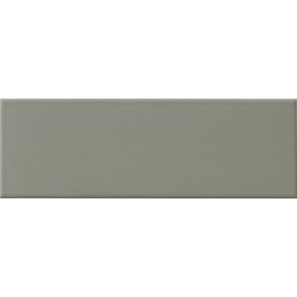 Hudson 4 x 12 Ceramic Subway Tile in Glossy Grey by Walkon Tile