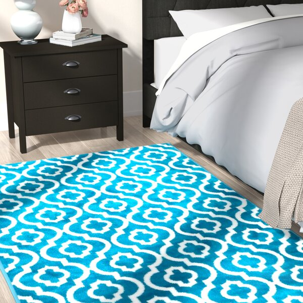Spaulding Turquoise Indoor/Outdoor Area Rug by Andover Mills