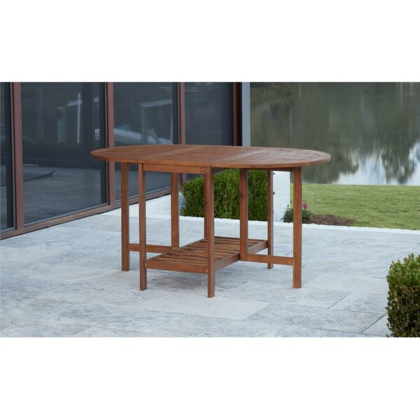 Fairmead Folding Wood Dining Table by Bay Isle Home