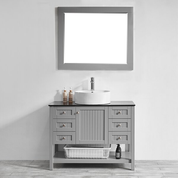Nadler 42 Single Bathroom Vanity Set with Mirror by Beachcrest Home