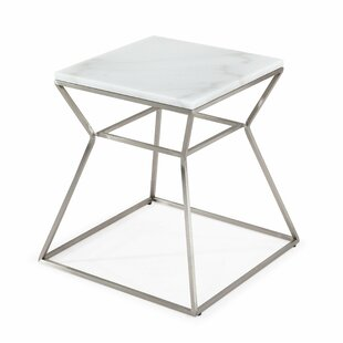 Belair Marble End Table by Ivy Bronx