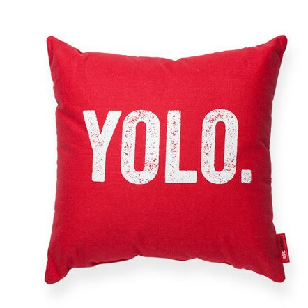 Pettis YOLO Decorative Throw Pillow by Wrought Studio