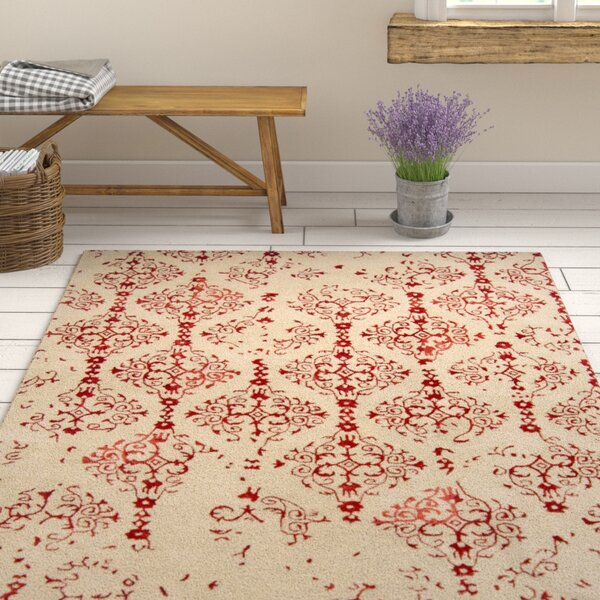 Hartleton Hand-Tufted Red Area Rug by Gracie Oaks