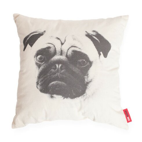 Luxury Pug Dog Decorative Cotton Throw Pillow by Posh365