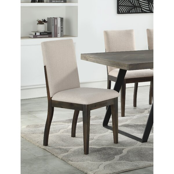 Kaelyn Upholstered Side Chair in Beige (Set of 2) by Mistana Mistana