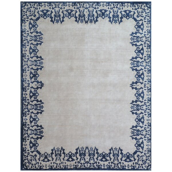 Roset Hand-Woven Gray/Blue Area Rug by Exquisite Rugs