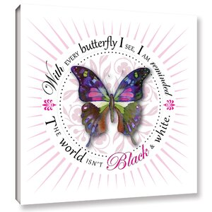 Black White Graphic Art on Wrapped Canvas by Latitude Run
