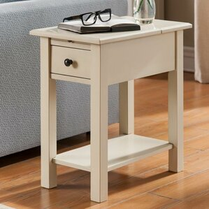 Lundgren Charging End Table With Stora..