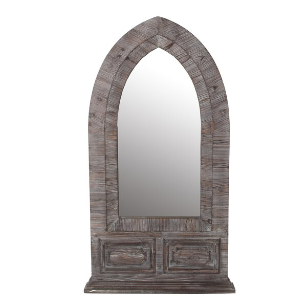 Hanish Distressed Wood Dome Accent Mirror by Millwood Pines