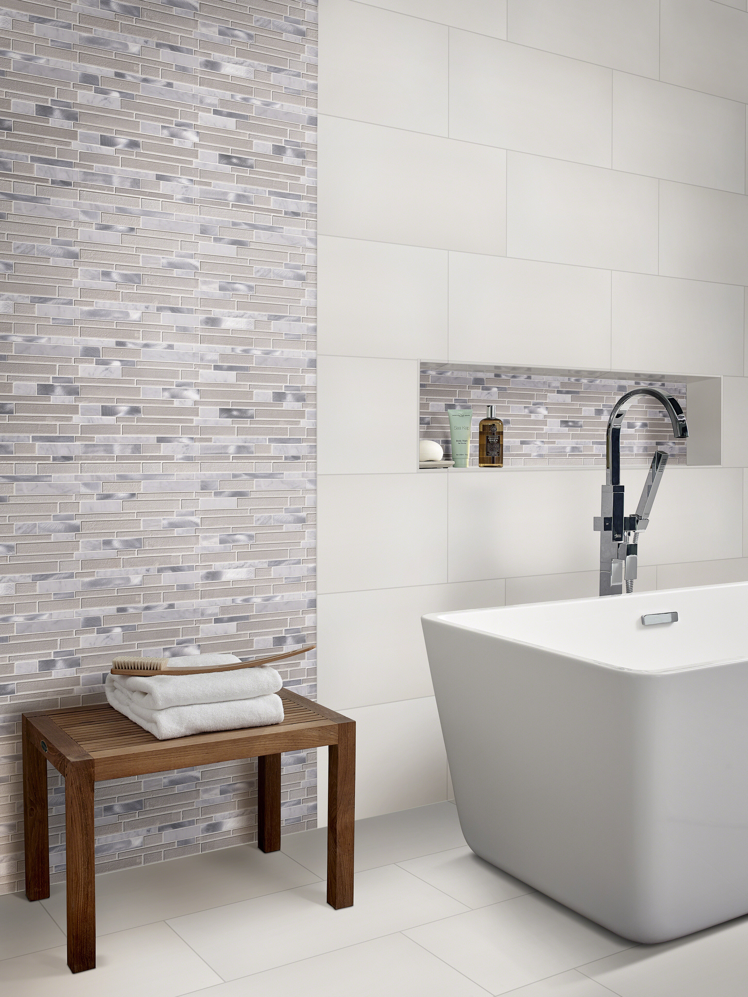 Domino 12 x 24 Porcelain Field Tile in Matte White & Reviews | AllModern