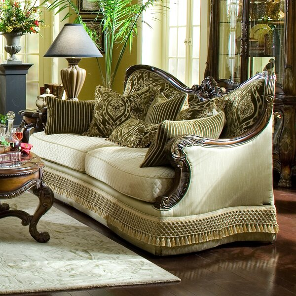 Valuable Today Chateau Beauvais Sofa by Michael Amini by Michael Amini