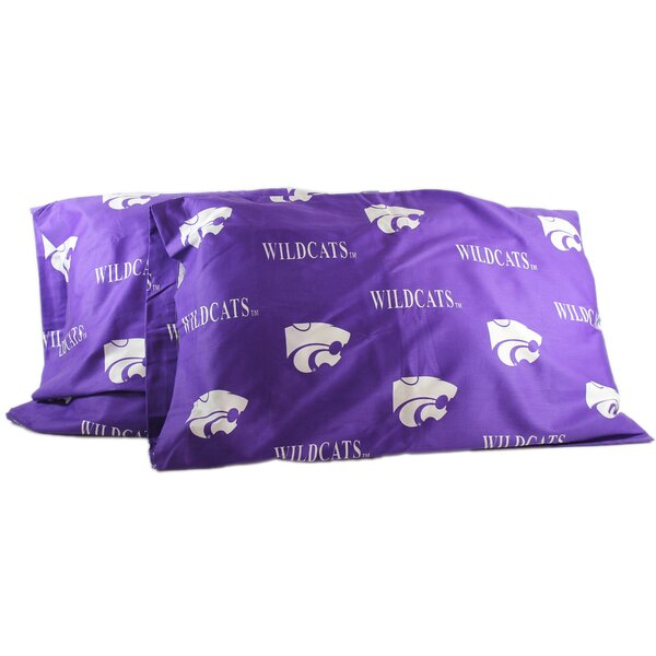 Collegiate NCAA Kansas State Wildcats Pillowcase (Set of 2) by College Covers