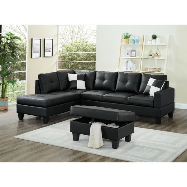 Redrick Sectional with Ottoman by Winston Porter