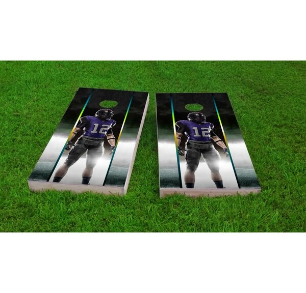 Football Player Cornhole Game Set by Custom Cornhole Boards