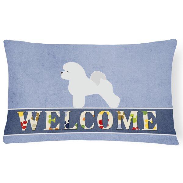Durkin Bichon Frise Welcome Lumbar Pillow by Red Barrel Studio