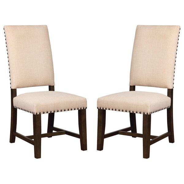 Farina Linen Upholstered Side Chair in Beige (Set of 2) by Red Barrel Studio Red Barrel Studio