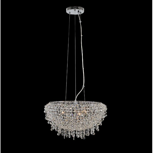 Robstown 3-Light Unique / Statement Tiered Chandelier by Everly Quinn Everly Quinn