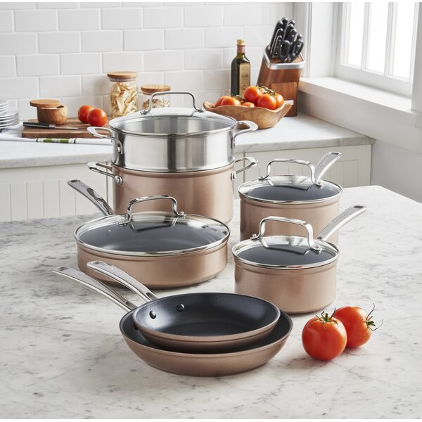 11 Piece Hard Anodized Non-Stick Cookware Set by KitchenAid