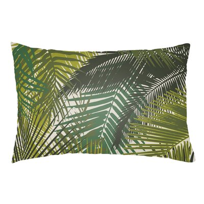 Olive Green & Black Outdoor Pillow