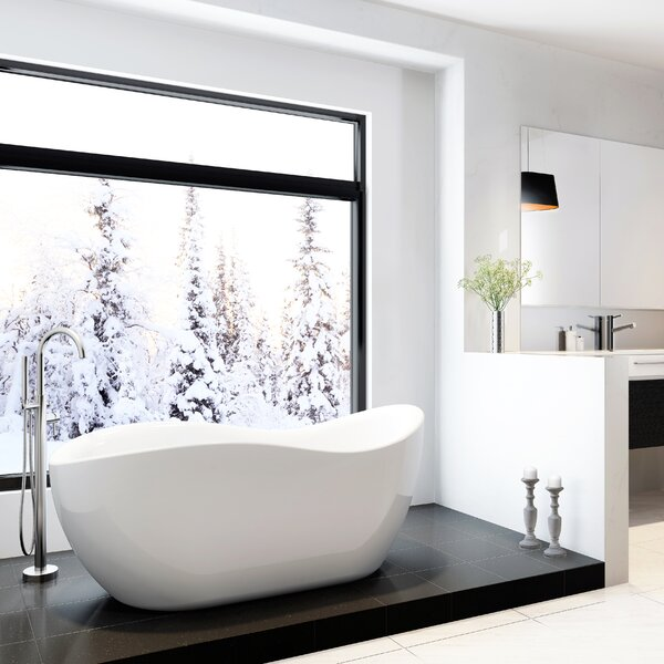 Axel 68 x 30 Freestanding Soaking Bathtub by A&E Bath and Shower