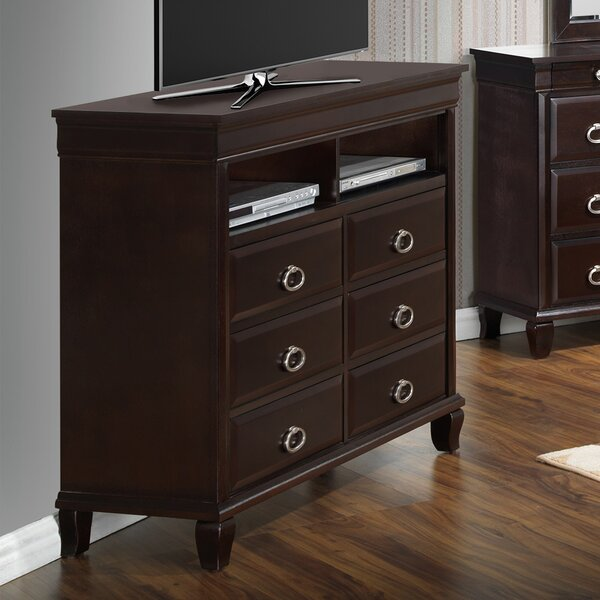 Review Ambrosina 6 Drawer Media Chest