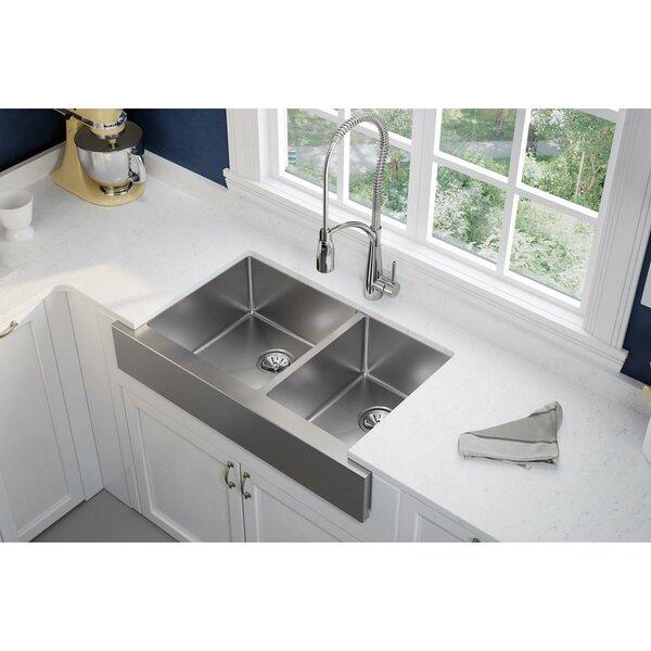 Crosstown 36 L x 20 W Double Basin Farmhouse Kitchen Sink