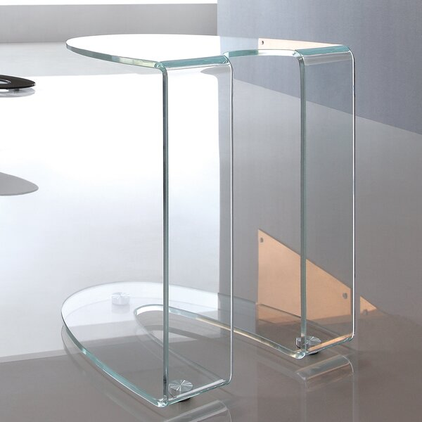 Boese Glass End Table by Orren Ellis