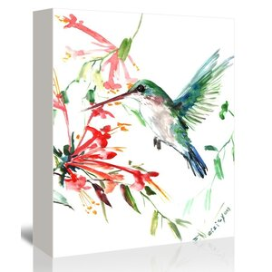 Flying Hummingbird by Suren Nersisyan Painting Print on Gallery Wrapped Canvas by Americanflat